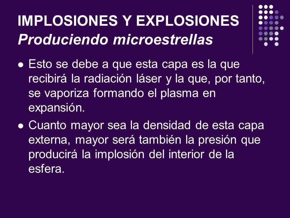 IMPLOSIONES Y EXPLOSIONES Produciendo microestrellas