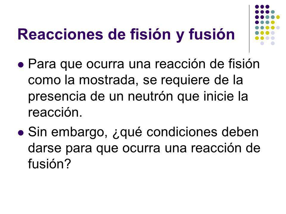 Reacciones de fisión y fusión