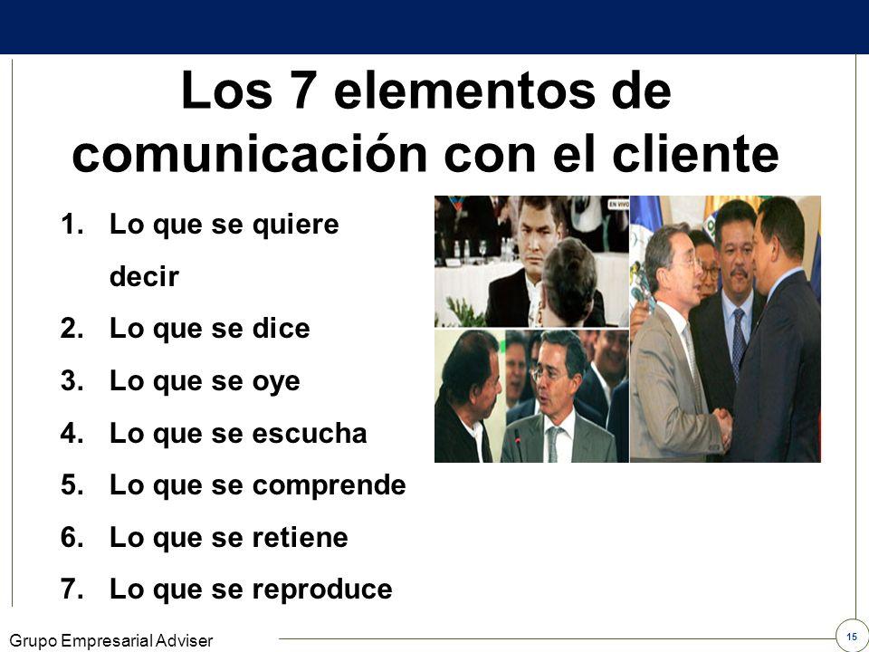 Los 7 elementos de comunicación con el cliente