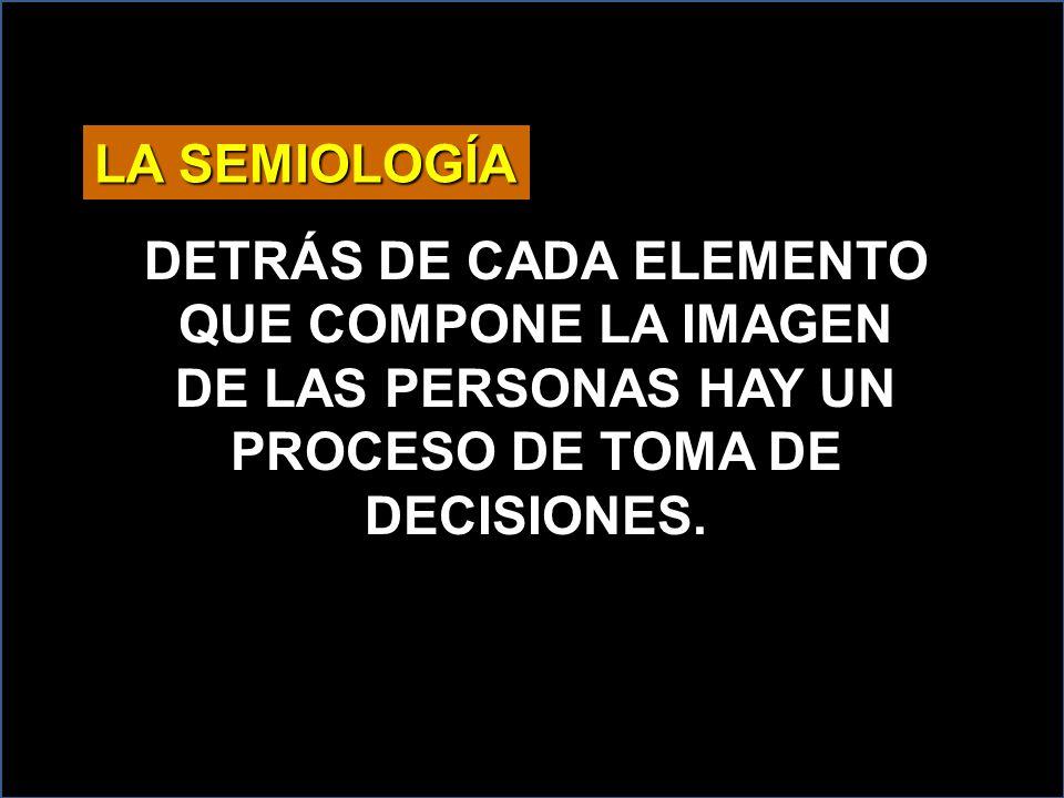 LA SEMIOLOGÍA DETRÁS DE CADA ELEMENTO QUE COMPONE LA IMAGEN DE LAS PERSONAS HAY UN PROCESO DE TOMA DE DECISIONES.