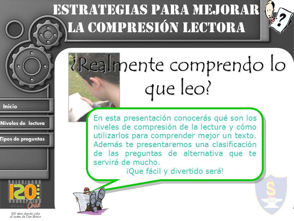 Estrategias para mejorar la compresión lectora