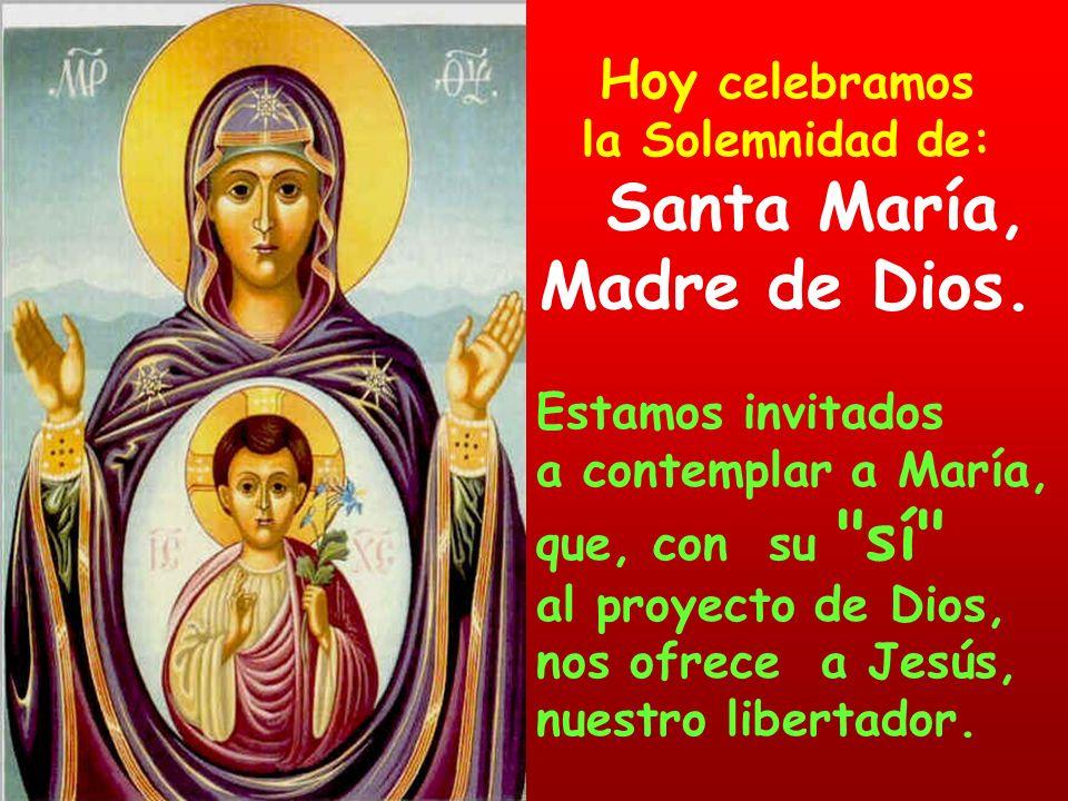 Hoy celebramos la Solemnidad de: Santa María, Madre de Dios.