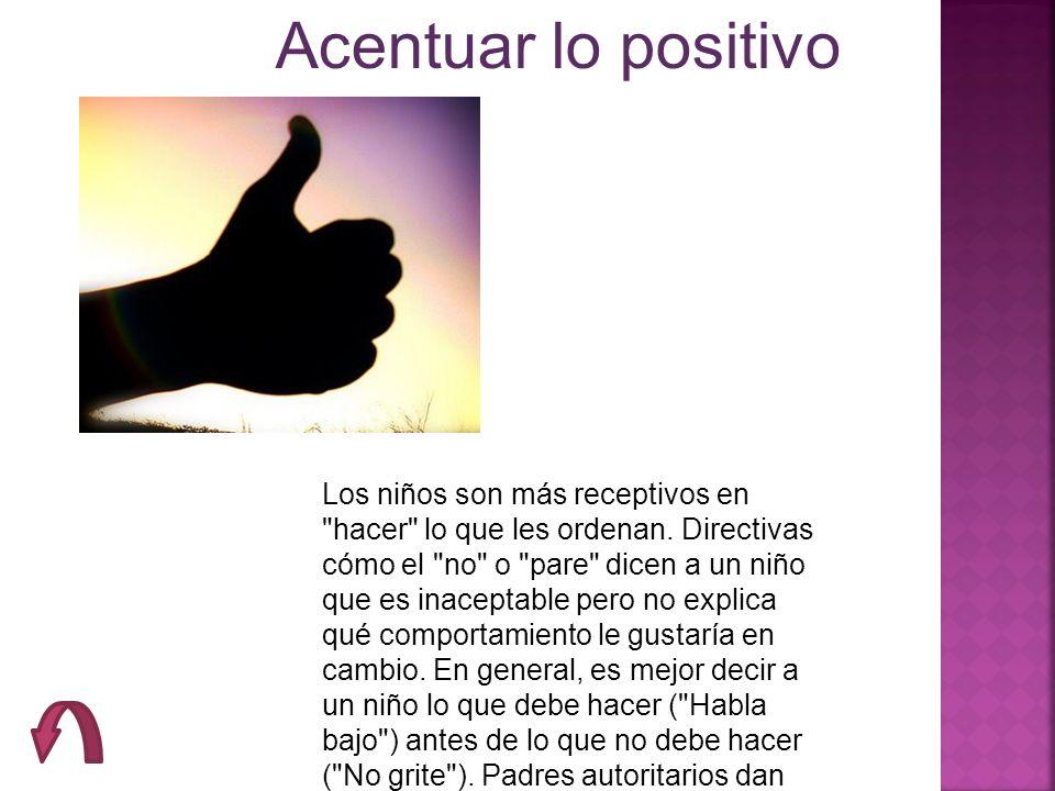 Acentuar lo positivo