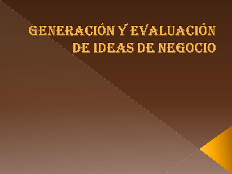 Generación y evaluación de ideas de negocio