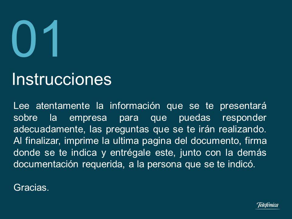 ¡BIENVENIDO (A) A TELEFONICA DEL PERU!