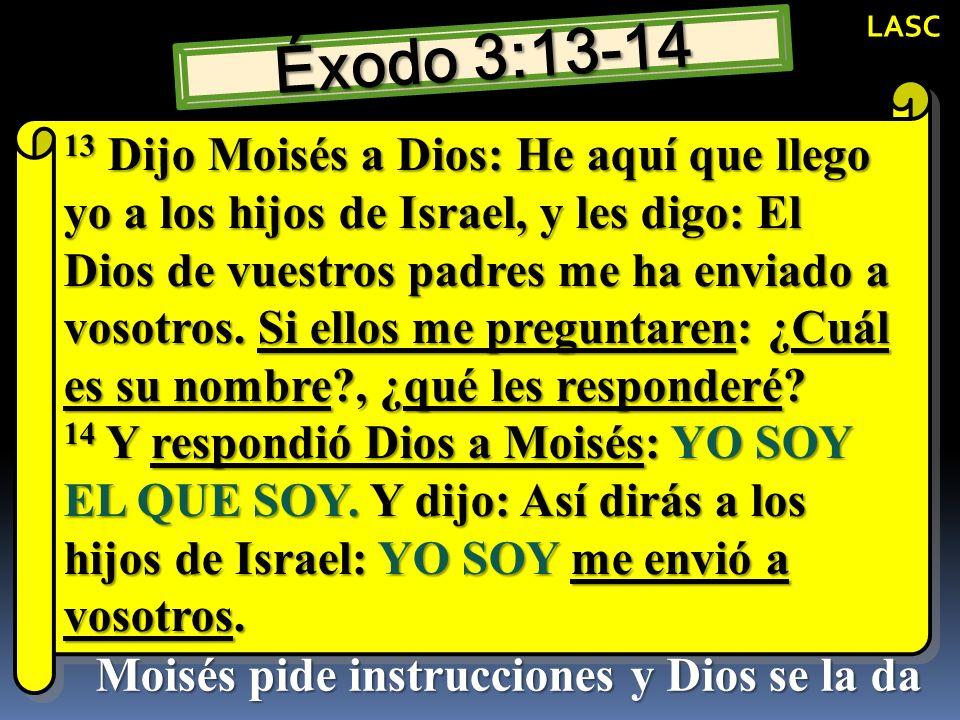 Moisés pide instrucciones y Dios se la da