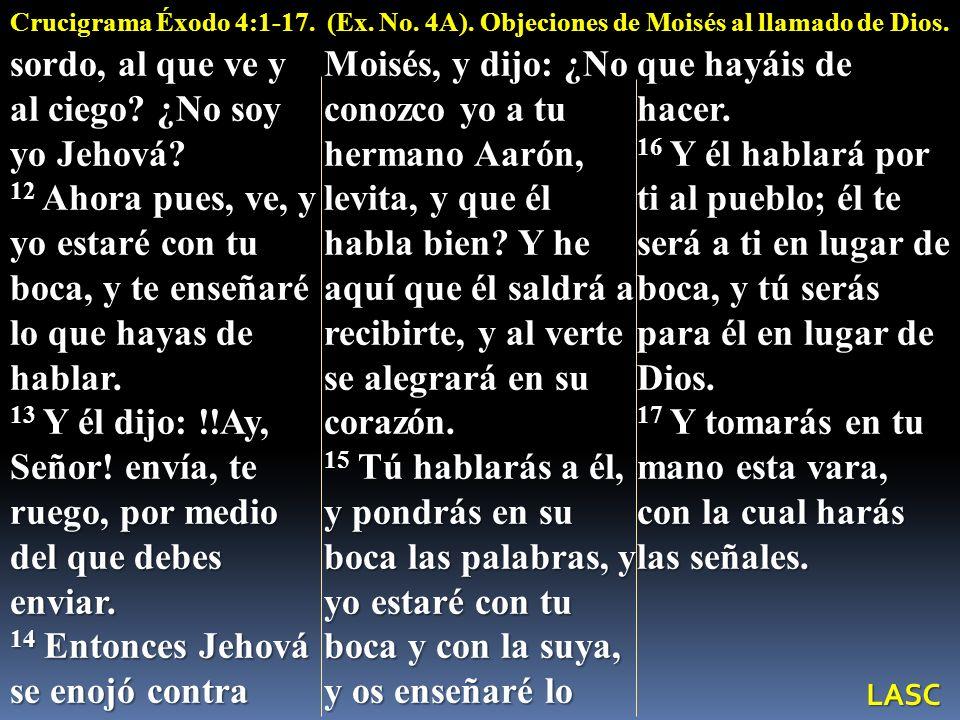 sordo, al que ve y al ciego ¿No soy yo Jehová
