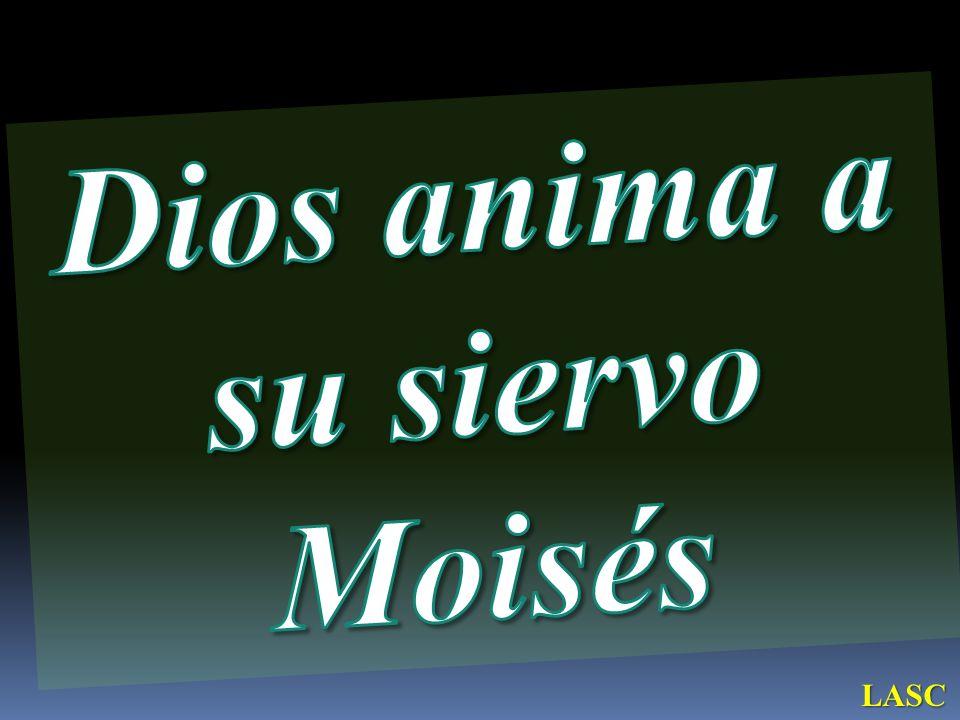 Dios anima a su siervo Moisés