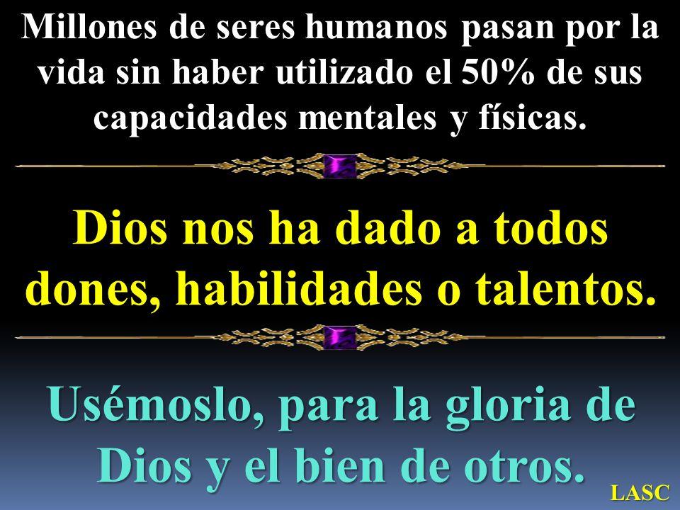 Dios nos ha dado a todos dones, habilidades o talentos.