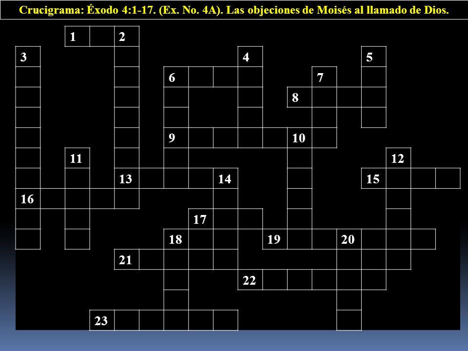 Crucigrama: Éxodo 4:1-17. (Ex. No. 4A)
