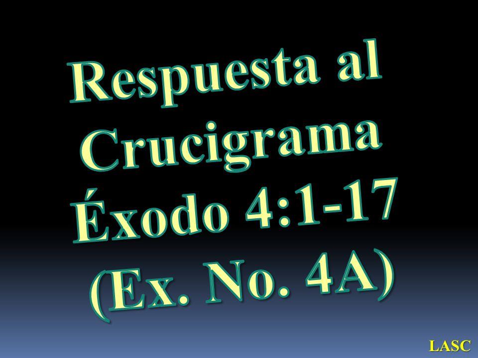 Respuesta al Crucigrama Éxodo 4:1-17
