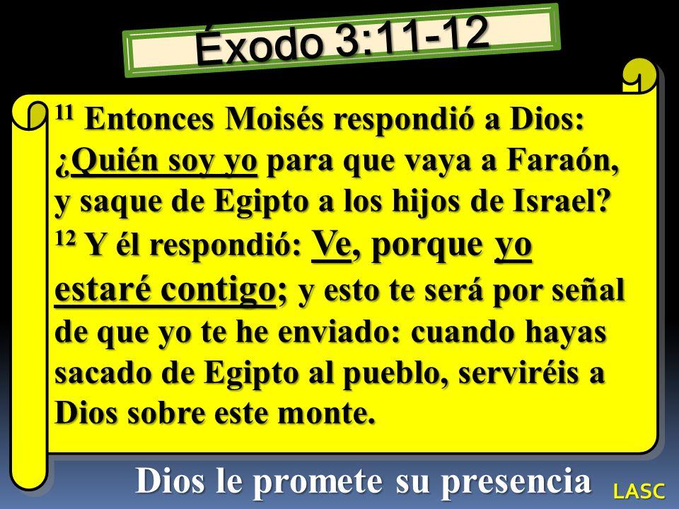 Dios le promete su presencia