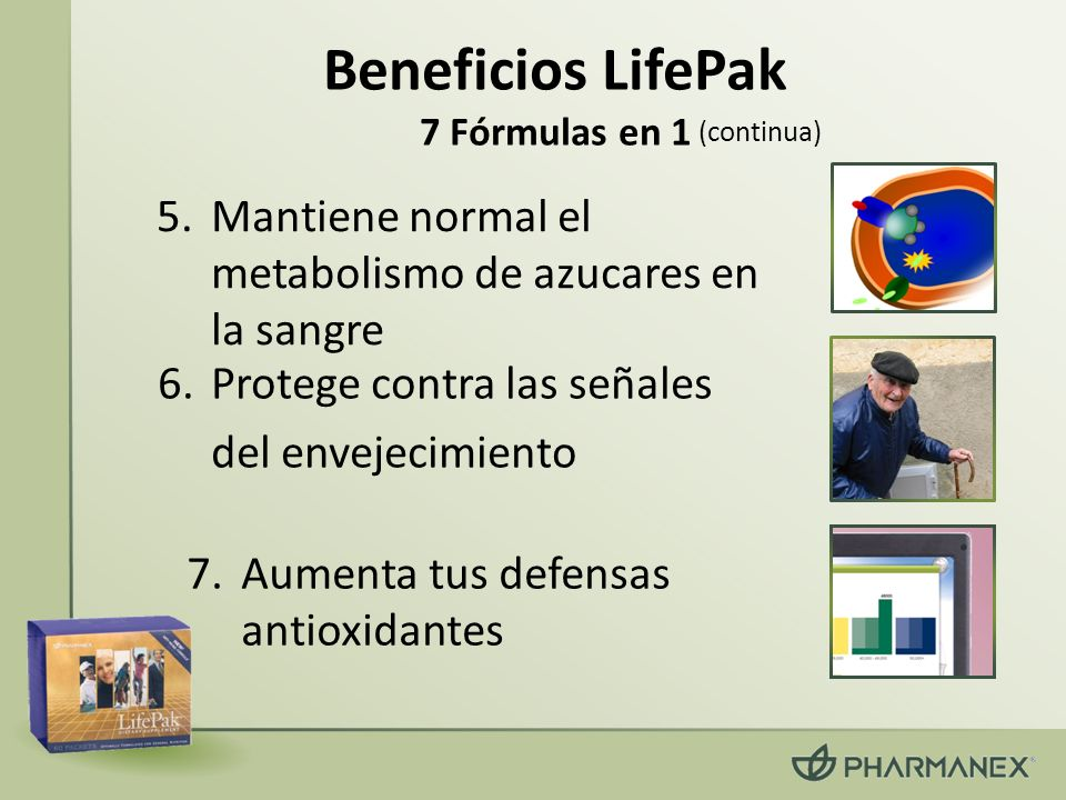 Beneficios LifePak 7 Fórmulas en 1