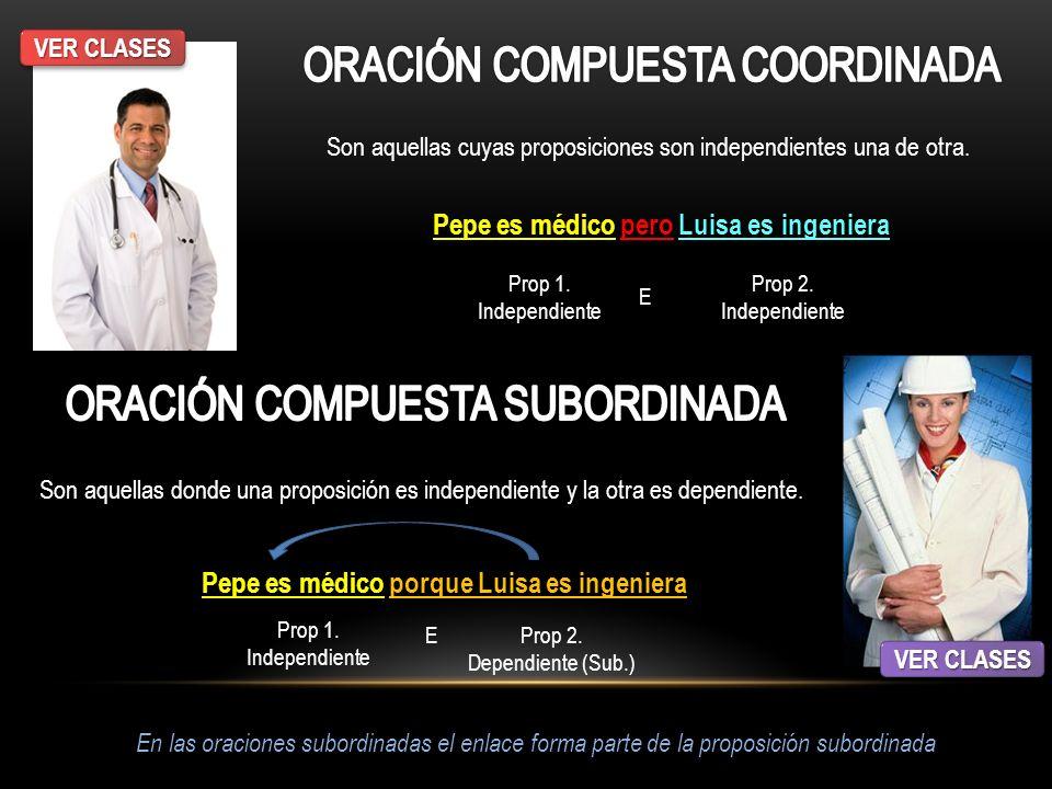 ORACIÓN COMPUESTA COORDINADA