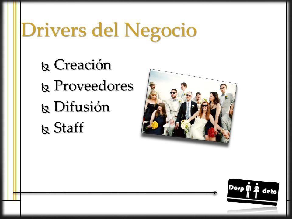 Drivers del Negocio Creación Proveedores Difusión Staff