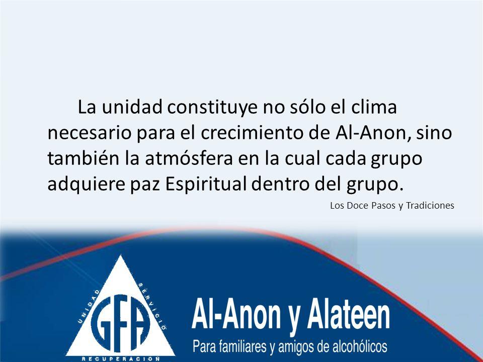 La unidad constituye no sólo el clima necesario para el crecimiento de Al-Anon, sino también la atmósfera en la cual cada grupo adquiere paz Espiritual dentro del grupo.