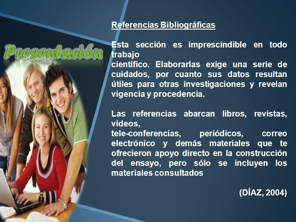 Presentación Referencias Bibliográficas