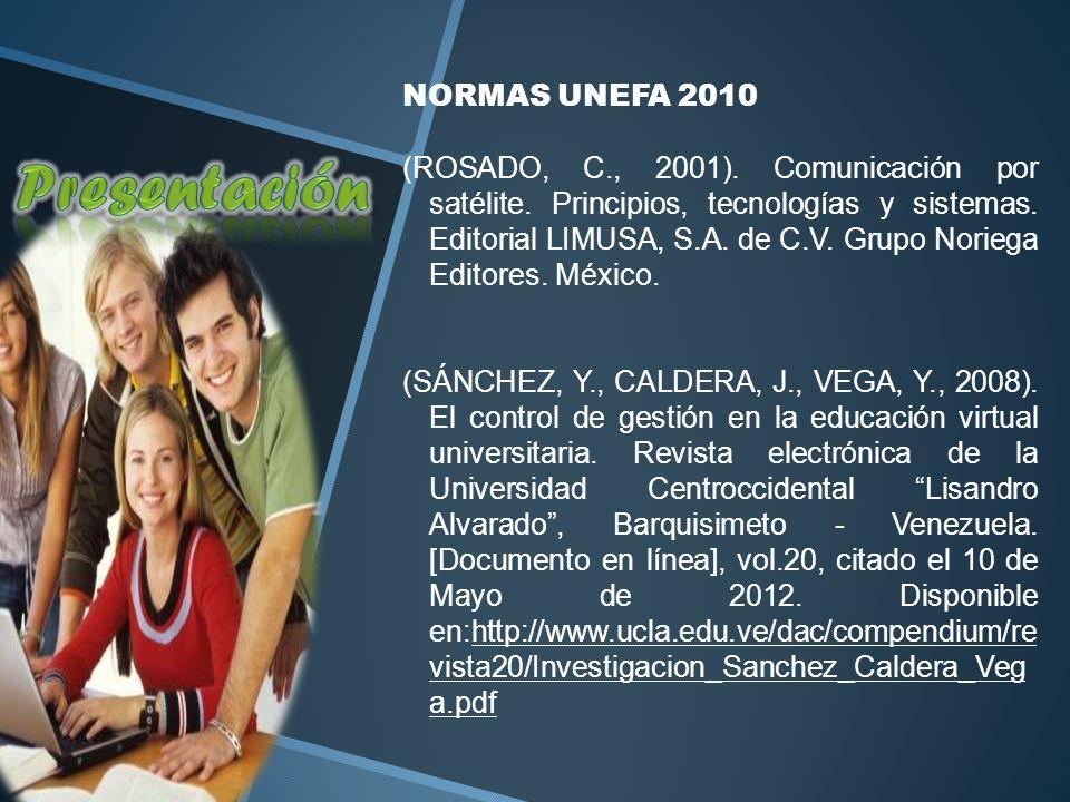 Presentación NORMAS UNEFA 2010