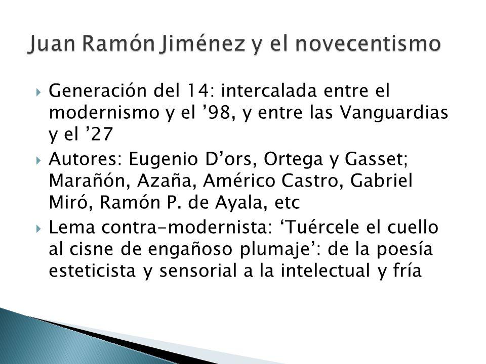 Juan Ramón Jiménez y el novecentismo