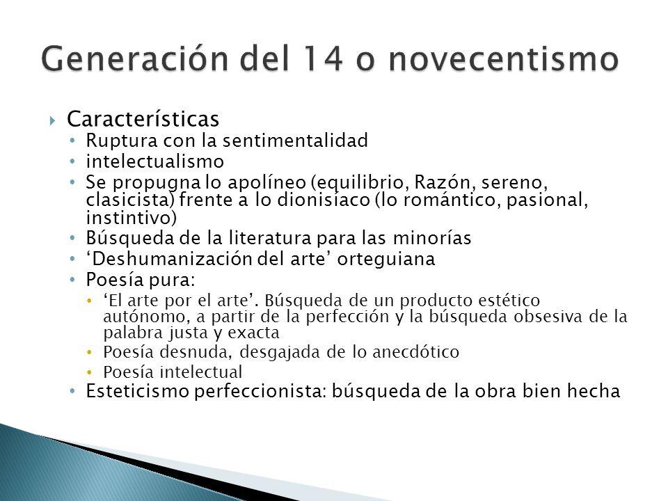 Generación del 14 o novecentismo
