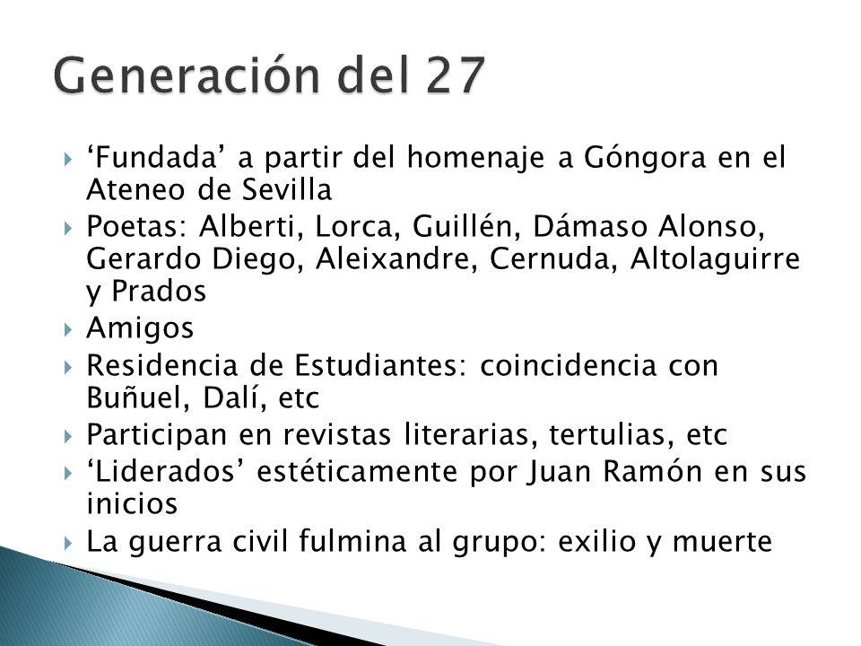Generación del 27 'Fundada' a partir del homenaje a Góngora en el Ateneo de Sevilla.