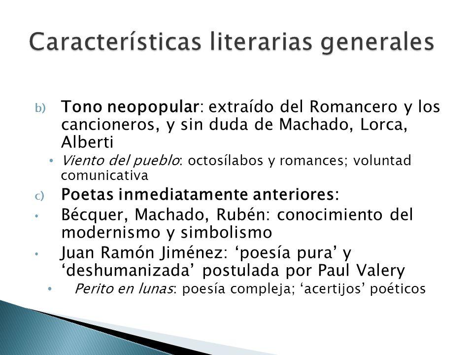 Características literarias generales