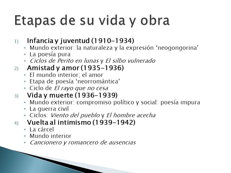 Etapas de su vida y obra Infancia y juventud (1910-1934)