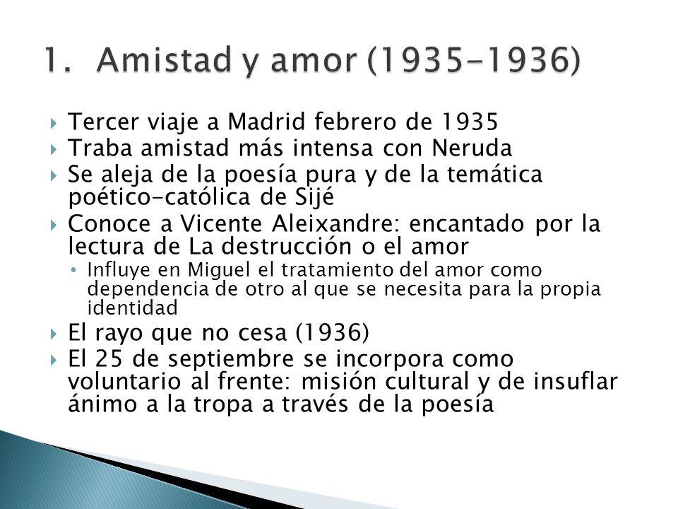 Amistad y amor (1935-1936) Tercer viaje a Madrid febrero de 1935