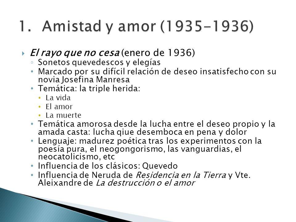 Amistad y amor (1935-1936) El rayo que no cesa (enero de 1936)