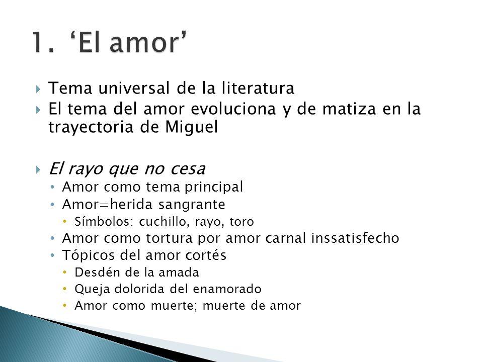 'El amor' Tema universal de la literatura