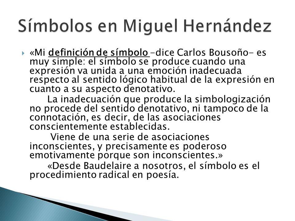 Símbolos en Miguel Hernández