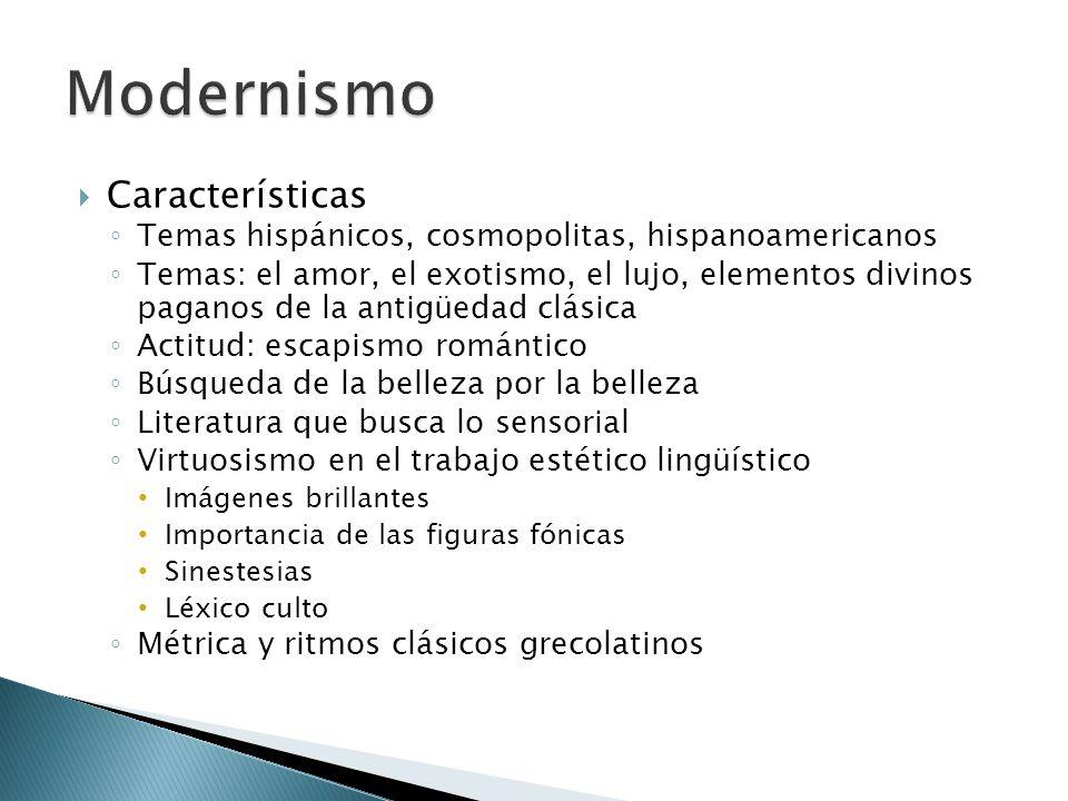 Modernismo Características