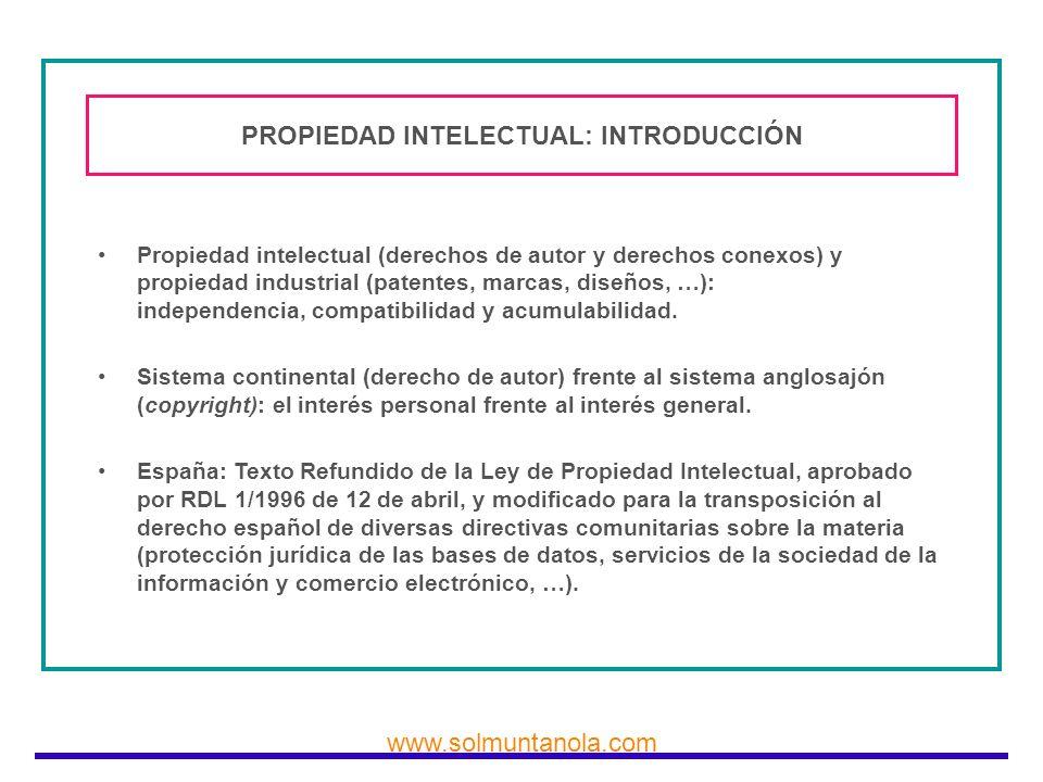PROPIEDAD INTELECTUAL: INTRODUCCIÓN