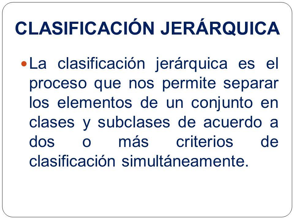 CLASIFICACIÓN JERÁRQUICA