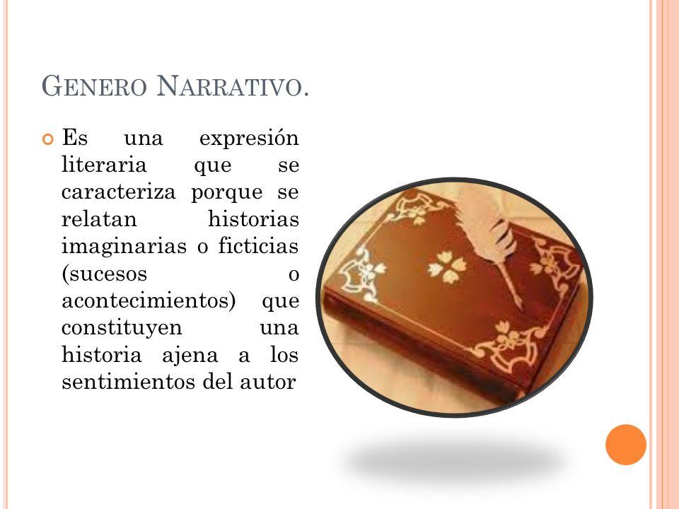 Genero Narrativo.