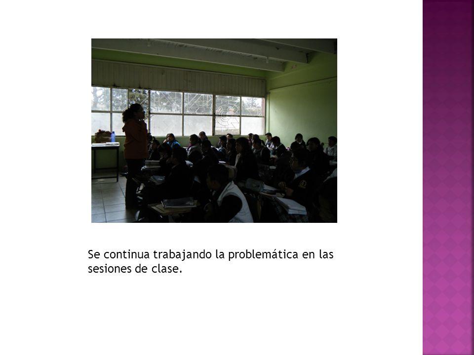Se continua trabajando la problemática en las sesiones de clase.