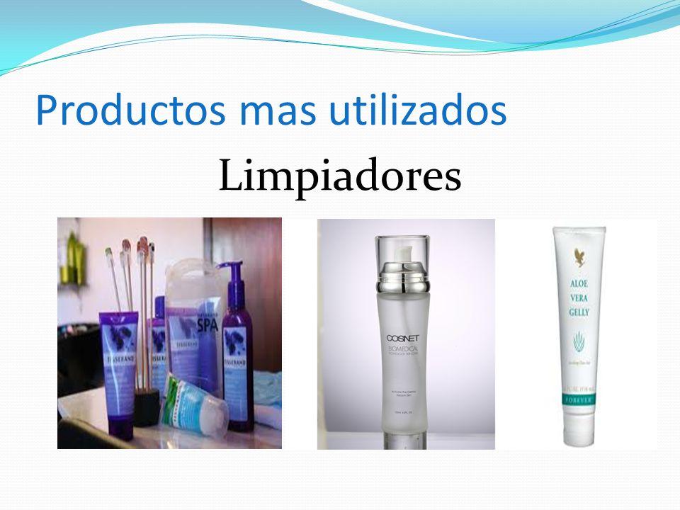Productos mas utilizados