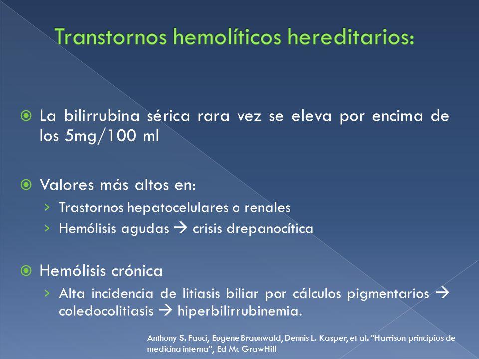 Transtornos hemolíticos hereditarios: