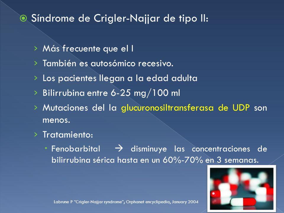 Síndrome de Crigler-Najjar de tipo II: