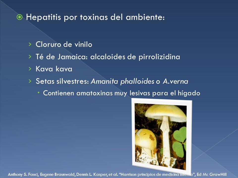 Hepatitis por toxinas del ambiente: