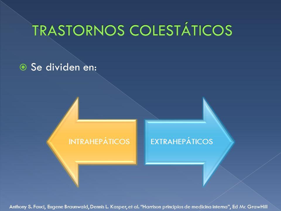 TRASTORNOS COLESTÁTICOS