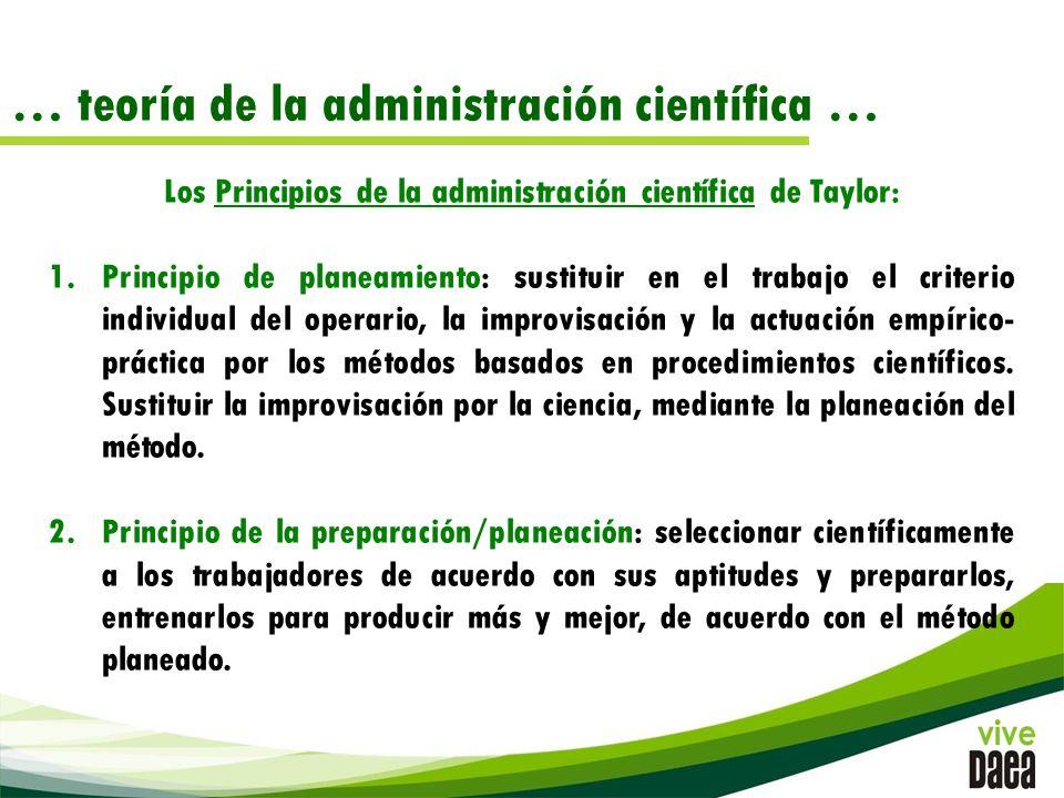 Los Principios de la administración científica de Taylor: