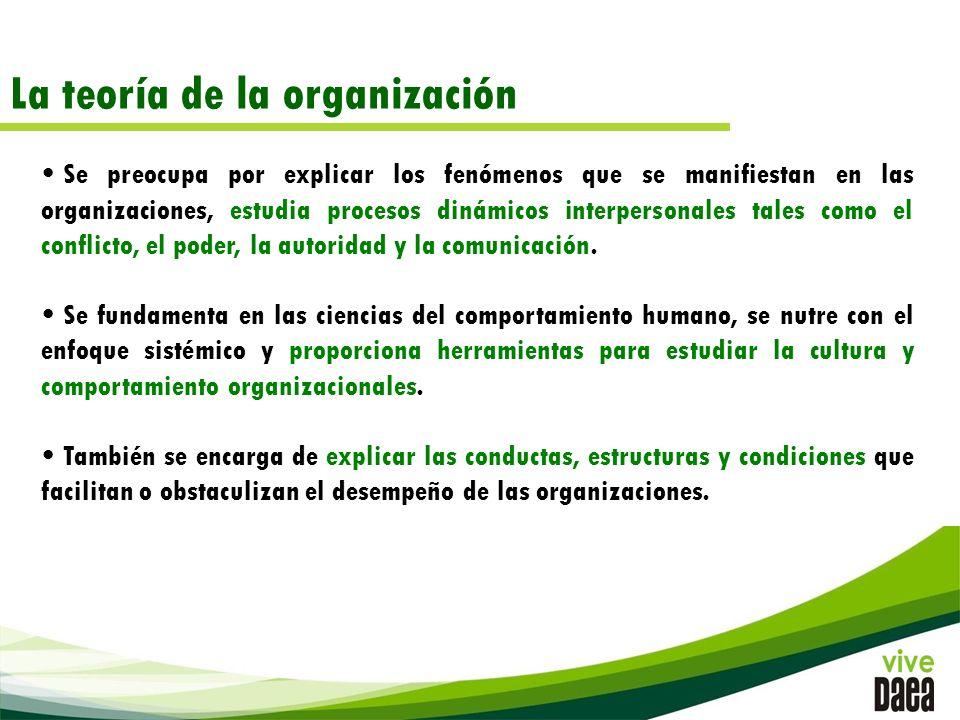 La teoría de la organización
