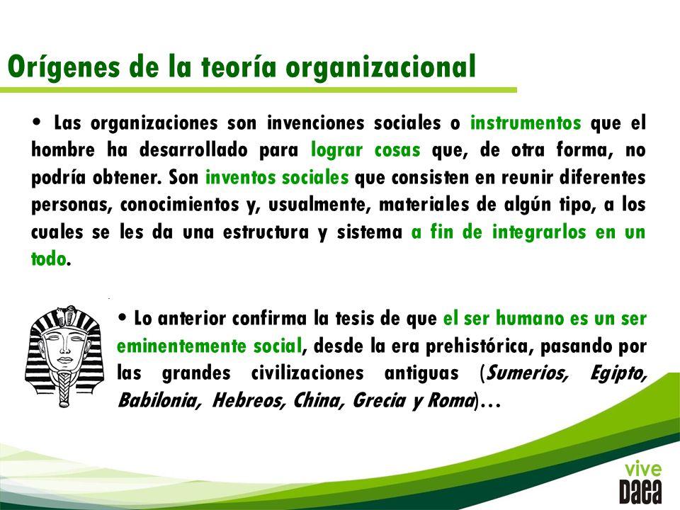 Orígenes de la teoría organizacional
