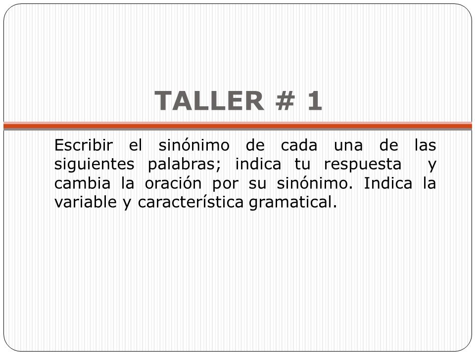 TALLER # 1