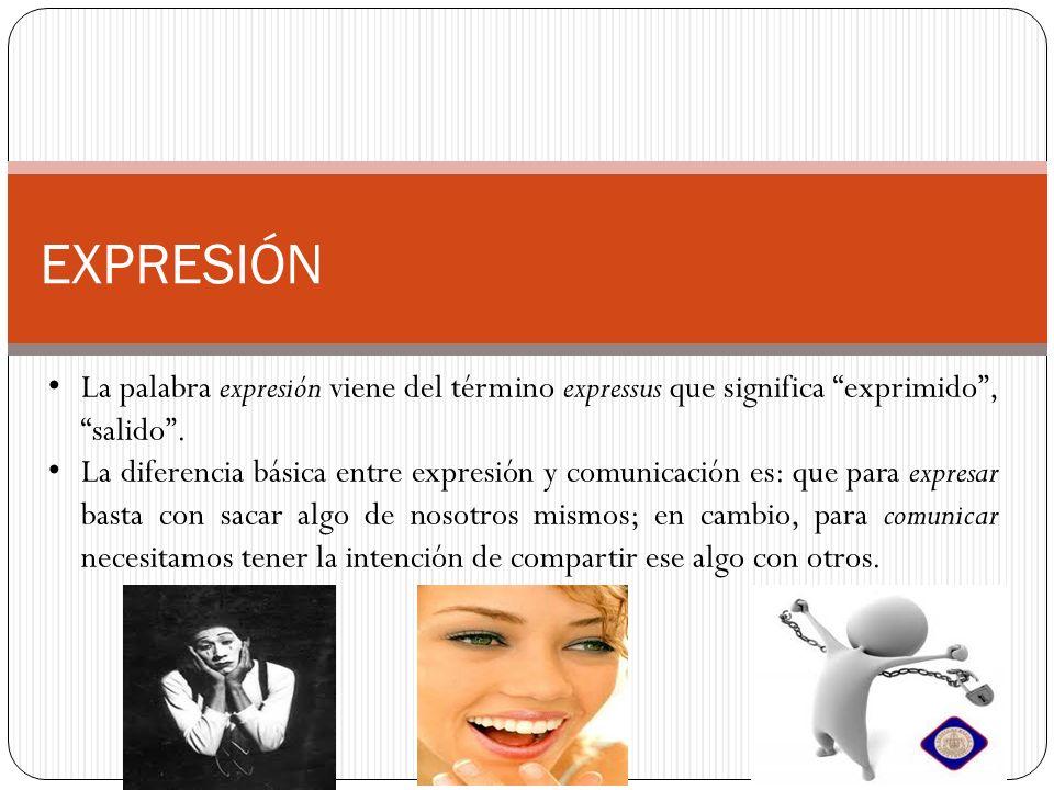 EXPRESIÓN La palabra expresión viene del término expressus que significa exprimido , salido .
