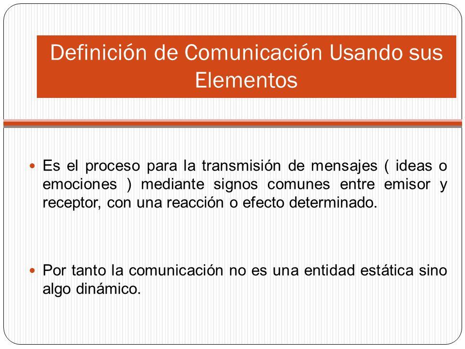 Definición de Comunicación Usando sus Elementos
