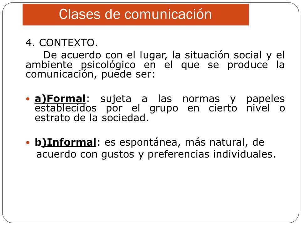 Clases de comunicación