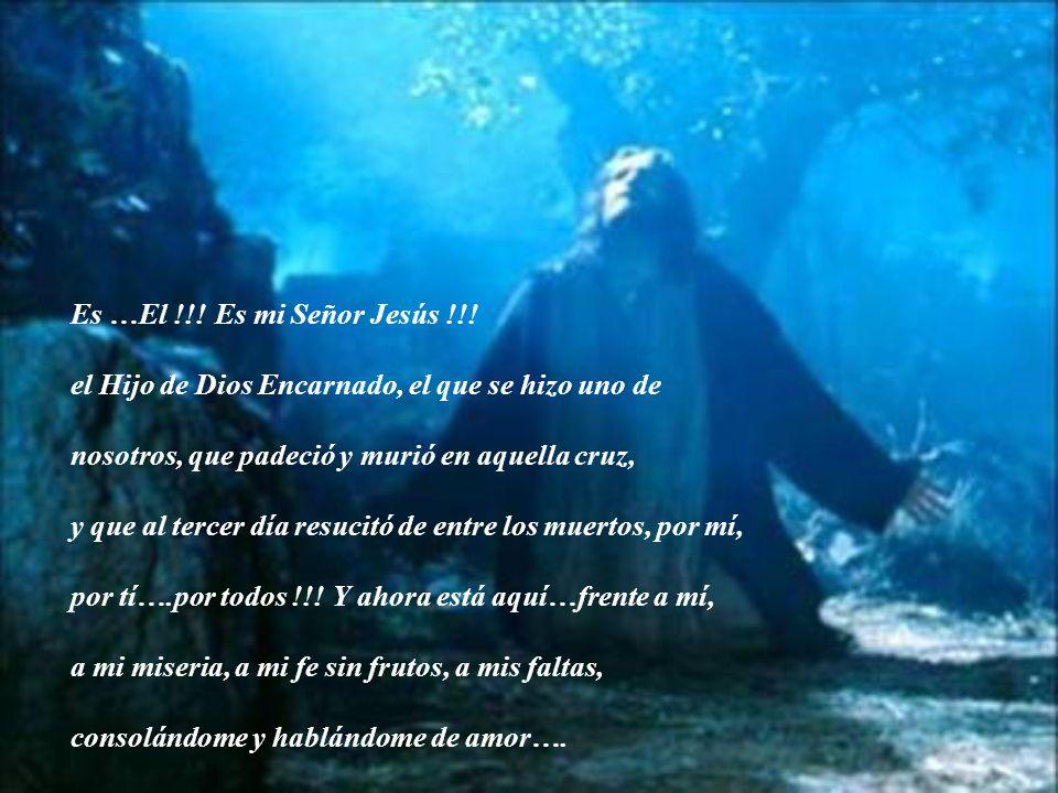 Es …El !!! Es mi Señor Jesús !!! el Hijo de Dios Encarnado, el que se hizo uno de. nosotros, que padeció y murió en aquella cruz,