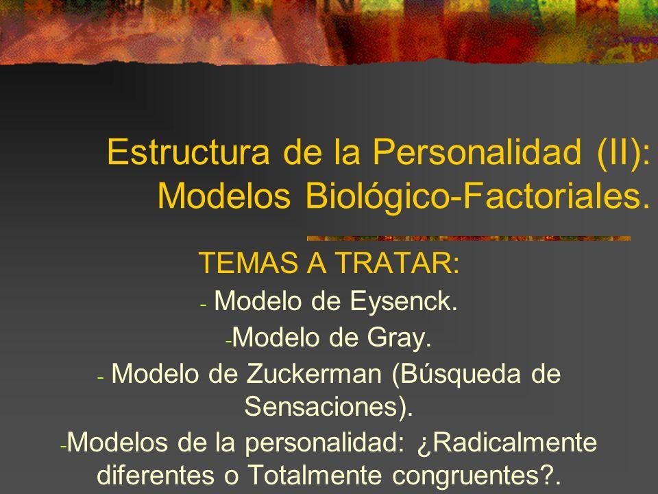 Estructura de la Personalidad (II): Modelos Biológico-Factoriales.